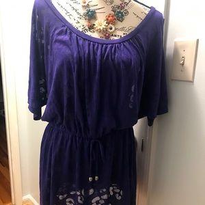 Purple Swim Suit Coverup